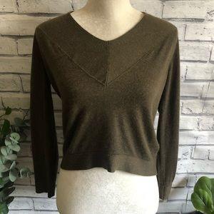 Manrico • V Neck Crop Cashmere Silk Sweater 224